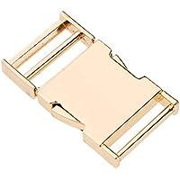 ce9e018e19604a FITYLE Retro Fibbia in Metallo per Cinturino Cinghia Chiusura Fibbia  Laterale Rilascio Clip Accessorio - Oro