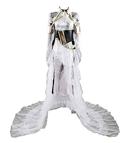 Final Fantasy XV FF 15 Luna Lunafreya Nox Fleuret Kleid Cosplay Kostüm Damen (Luna Cosplay)