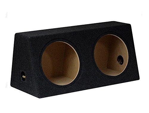Twin Sub Box Subwoofer Gehäuse Bass Leer Gehäuse schwarz doppelt