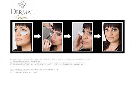 Shadow Shields Abdeckungen für Augen und Lippen Helfer beim Lidschatten Makeup eye make up (30x Stück) Dermal Vital® - 3