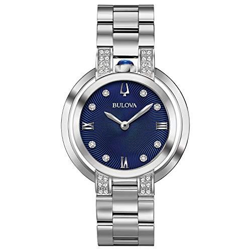 Bulova donna 'Rubaiyat' Orologio al quarzo acciaio INOX casual, colore tonalità argentata (Model: 96R225)