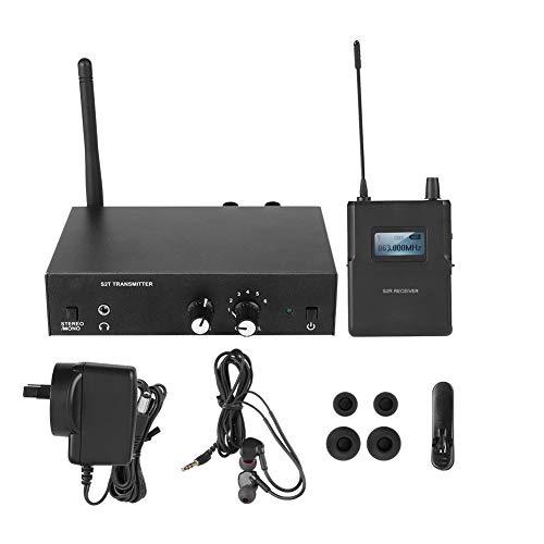 Garsent In Ear Monitor System, Wireless Monitoring System 1 Sender und 1 Empfänger 561-568Mhz für ANLEON, für Überwachung Studio Recording (EU 100-240v)
