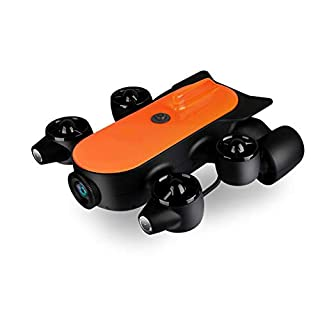 QLPP 150M/100M Professional Underwater Drone ROV AUV Robot with 4K UHD Action Camera Remote Control Real-time Steaming Undersea Detection for Viewing, Recording, Fishing, Salvage Work,A