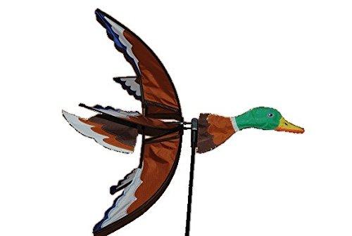 Preisvergleich Produktbild XL - Windrad Ente 1,17 m Vogel - Stockente / Wasser - Teich braun weiß gelb Windräder - Windspiel für den Garten