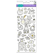 Forever in Time Living Paper Craft Art terapia con glitter, 4in x 9in, color your own stickers, baby Boy, multicolore, 10,2x 22,9cm