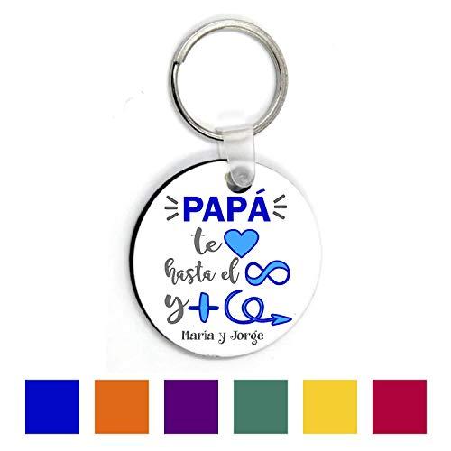 Regalo Papá/Llavero Texto Personalizado/Padre/Cumpleaños/Chico/Hombre