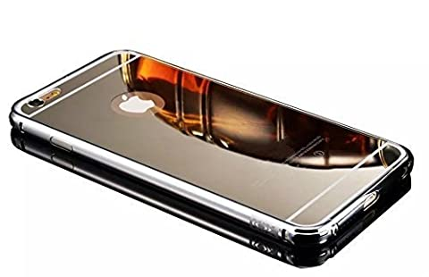 Vandot Accessory Set 1X Luxury Mirror Reflective Effect metal phone case For iPhone 6S 6 4.7 inch Bumper frame Cover Hard back Aluminum chrome corner edge Protective Case shell Cover-Silver