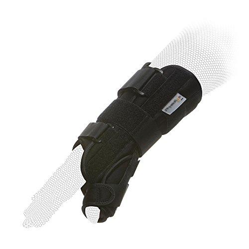 Physio Room Handgelenkschiene mit Daumenschiene – Handagelenkbandage mit Daumenorthese Medium Rechts (Daumen Handgelenk Schienen)