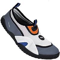 SEAC Hawaii Zapatillas Anti Deslizamiento para Adultos y niños, Sacadura rápida, Zapatos para el mar, la Playa y la Piscina, Unisex-Youth, Blanco/Gris, 28