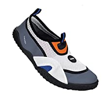 SEAC Hawaii, Water Shoes for Adults and Kids, Quick Dry, Shoes for Swimming Pool and Beach White Grey