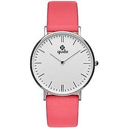 Qudo Eterni 800387Coral Red/Silver/White Women's watch