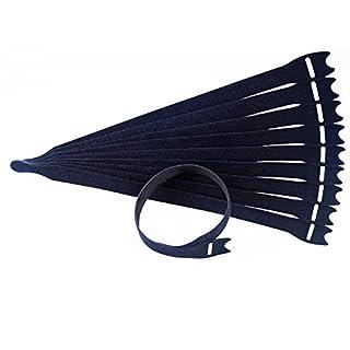 10 x Klettkabelbinder 40 cm schwarz Back-to-Back