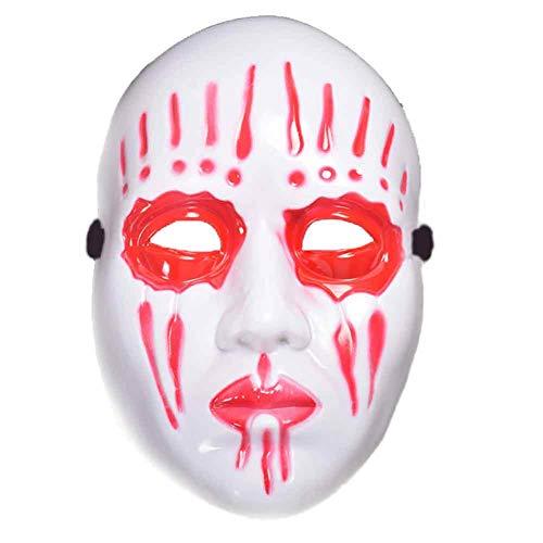 Jke pan Halloween Horror lustige Thema Maske Kostüm Ball Leistung Requisiten Augenmaske,Red (Halloween-kostüm Uk Lustig)