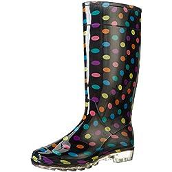 Las señoras para mujer Botas de agua nieve Festival de la Lluvia Wellington Botas Tamaño EU : 39