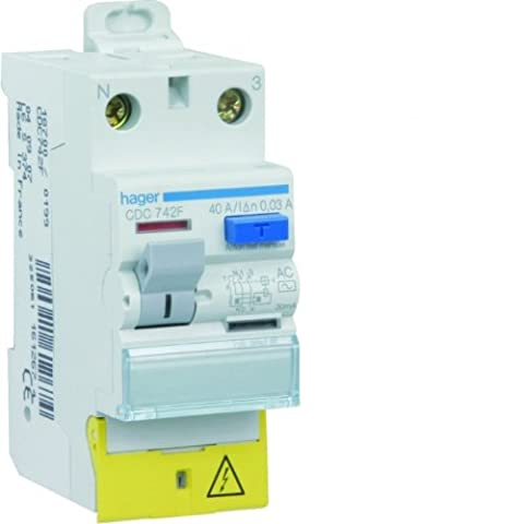 interrupteur différentiel hager - 40a - 30 ma - 2