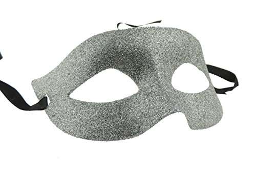 Ladies Mens Venetian Glitter Masquerade Ball Fancy Dress Mask Ribbon Tie (Masquerade Für Ball Ideen)