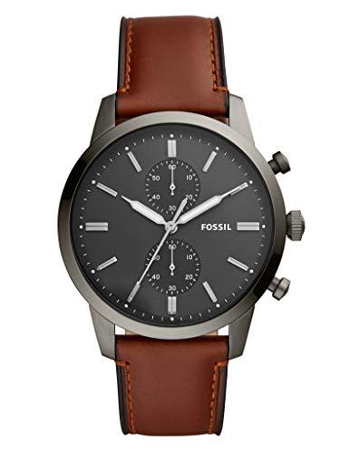 Fossil Herren Chronograph Quarz Uhr mit Leder Armband FS5522
