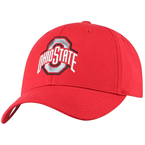 Top of the World Herren Mütze NCAA Fitted Team Icon, Herren, NCAA Men's Fitted Hat Relaxed Fit Team Icon, Ohio State Buckeyes Red, Einstellbar