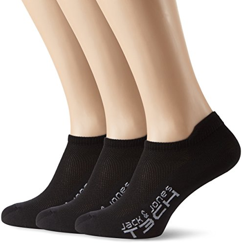 Jack & Jones Tech Herren Jjtgo Sneaker Socken, Black, 43-46