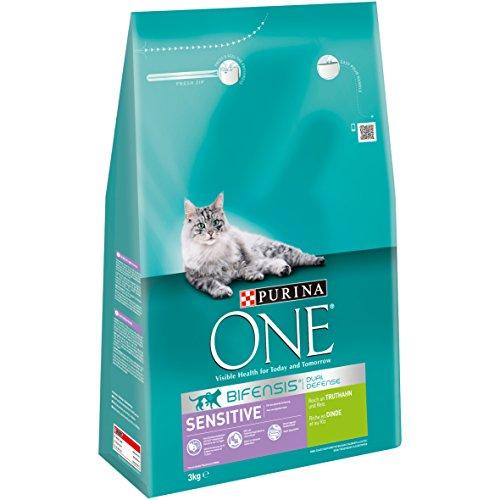 ONE Sensitive Gatto Fodera Ricco di Tacchino e Riso, Confezione da (4X 3kg)