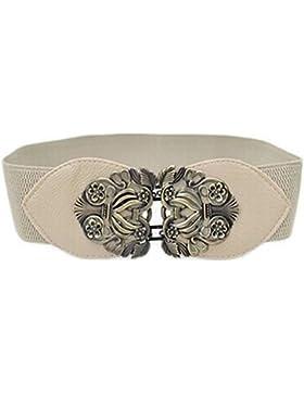zolimx Cinturones de mujer, Cinturón de hebilla vintage de estiramiento ancho elástico