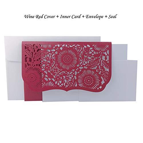 AOWEIRILUV 50 PC Taschen-Hochzeits-Einladungs-Karte mit UAWG-Karten-Gruß-Karten-Geschäftsparty-Dekoration