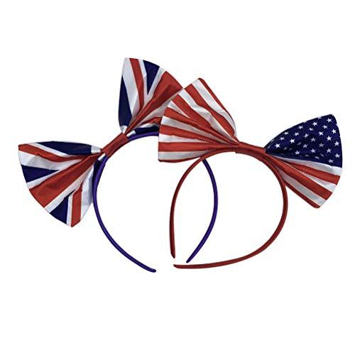 Juli patriotische amerikanische Flagge Stirnband Haarschleife Haarband Haarzusätze 4. Juli Kostüm Partei begünstigt ()