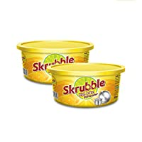 Skrubble High Action Dishwash Bar with Free Scrub Pad, 700g (Pack of 2)