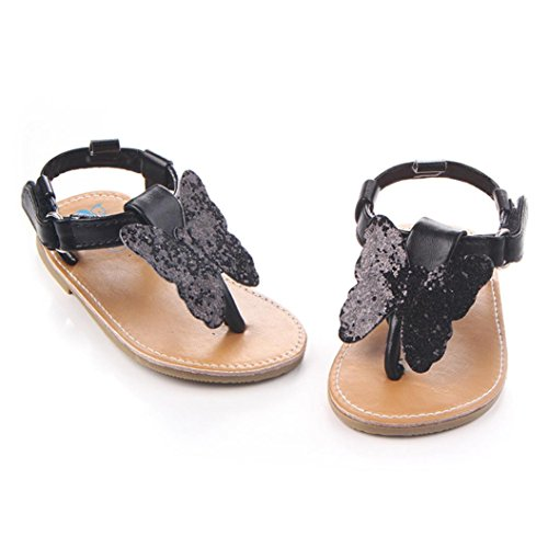 Igemy 1Paar Frühling Soft Sole Baby Mädchen Baby Schuhe Mode Schuhe Schmetterling Knoten Schuhe Schwarz