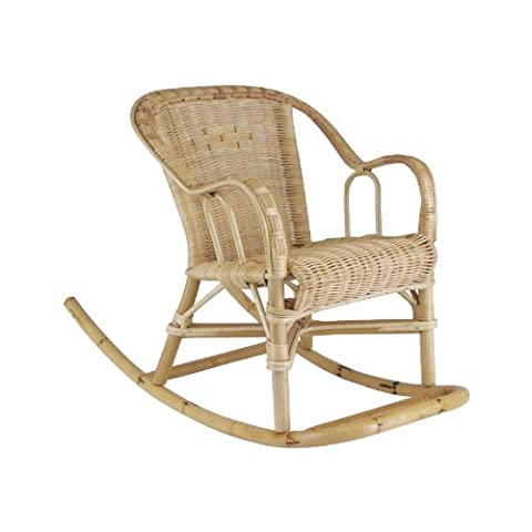 Rocking-chair enfant en rotin Dimensions : 41 x 75 x 52