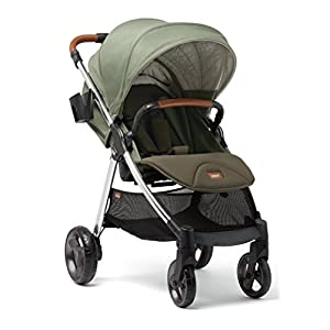 Mamas & Papas Armadillo XT All-Terrain Pushchair with Compact One Hand Fold, Large Four Wheel Design & Adjustable Lie Flat Seat - Ally Khaki BabyZEN  2