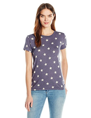 Alternative idéale pour femme col ras du cou à manches courtes T-shirt Etoiles