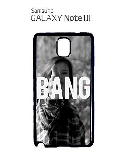 Sexy Girl Bang Cool Gun Attack Love Mobile Phone Case Samsung Note 3 White Blanc