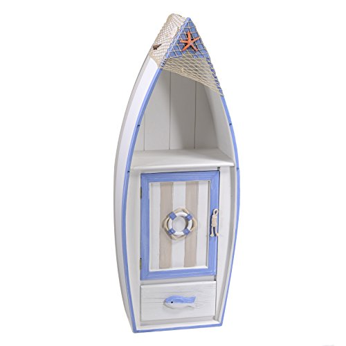 Kommode Plan (vacchetti Josef 1842070001Mobiletto Meer Boot, 1Plan, 1Tür und 1Schublade, Holz, Weiß, 41.5x 25x 110cm)