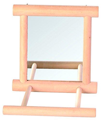 Trixie Vogel Spiegel mit Holzrahmen/2Landung Sitzstangen, 9x 9cm