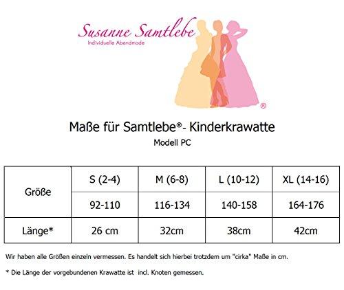 Samtlebe ®-kinderkrawatte binder schlips pC06 en rose uni pour jungenanzüge en s)-xL 14 ans Rose - Rose
