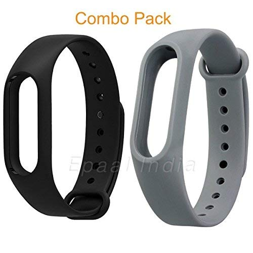 Mi cosa Black and Grey Combo for mi Band 3/4 (not for mi Band 1/2/HRX)