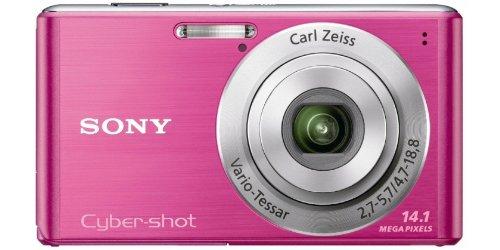 Sony DSC-W530P Digitalkamera (14 Megapixel, 4-fach optischer Zoom, 26mm Weitwinkel, 6,9 cm (2,7 Zoll) Display) pink