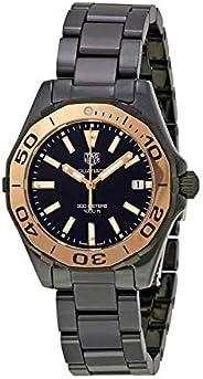 ساعة تاغ هيور 300 اكواريسر للنساء مينا اسود سيراميك - WAY1355.BH0716