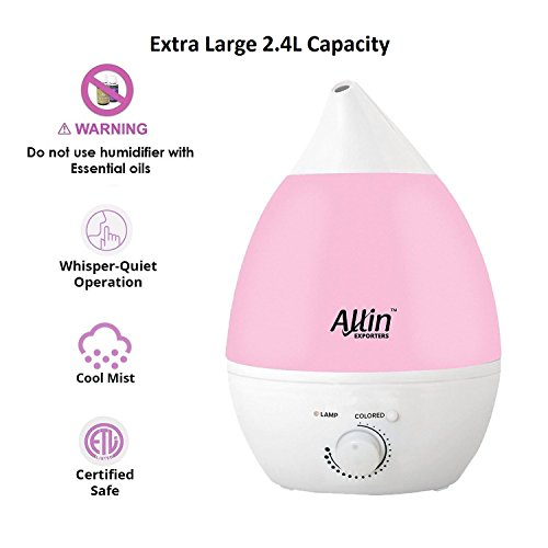 Allin Exporters Ultrasonic 2.4L Humidifier & Purifier Cool Mist With...