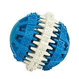 WQING Dental Ball Hundespielzeug Ball Hundefutter Ball Aus Naturkautschuk Hund Katzen Snack Bälle Für Zahnpflege,Blue,S