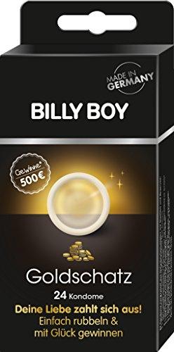 Billy Boy Goldschatz Kondome, 8 verschiedene Sorten, 1er Pack (1 x 24 Stück)