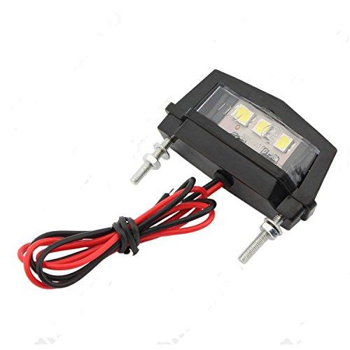alamor 12V Motorrad LED Kennzeichenbeleuchtung für Honda/Kawasaki/Yamaha/Suzuki