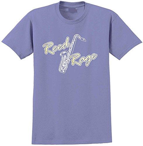Saxophone Sax Tenor Reed Rage - Violett T Shirt Größe 86cm 34in Lge 12-13 Jahr MusicaliTee (Kinder Yamaha Saxophon Für)
