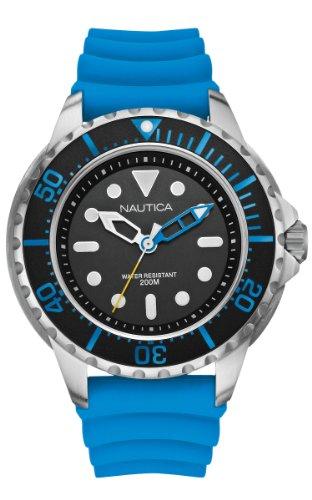 nautica-a18631g-montre-homme-quartz-analogique-cadran-noir-bracelet-silicone-bleu