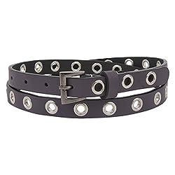 Aditi Wasan Genuine Leather Studded Purple Ladies Belt