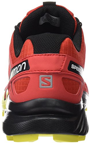 Salomon Speedcross 4, Chaussures de Trail Homme, Bleu Rouge (Radiant Red/black/corona Yellow)