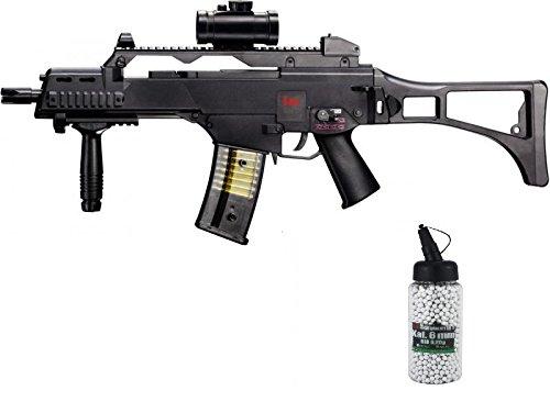 g8ds SET: HK Heckler & Koch G36 C AEG ELEKTRISCH Softair Gewehr BIO Softairkugeln 6mm 0,20g 2000 BBs (Paintball-gewehr-gewehr)