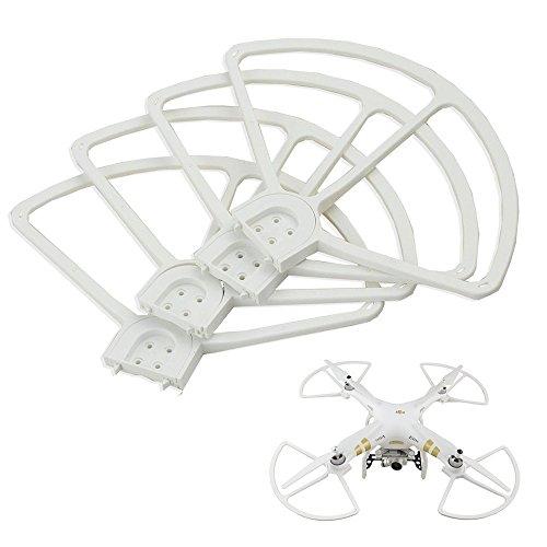 """Preisvergleich Produktbild HOBBYTIGER 4 St. Propeller Schutz Prop Guards Protektoren für DJI Phantom 3 Professional Advanced Standard Drohne 9"""" Zoll (weiß)"""