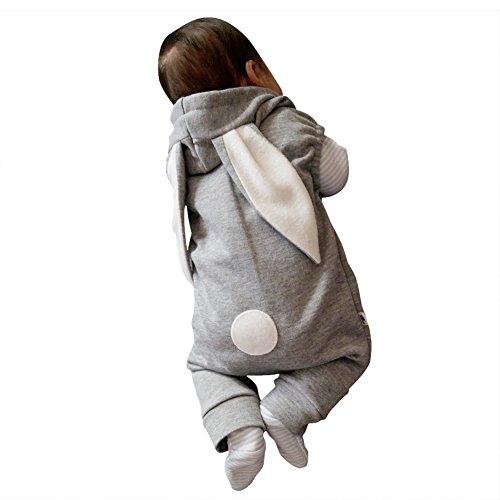 er Jungen Mädchen Overall Babykleidung Hase 3D Ohr Warm (Halloween-spiele Für Eine Herbst-festival)